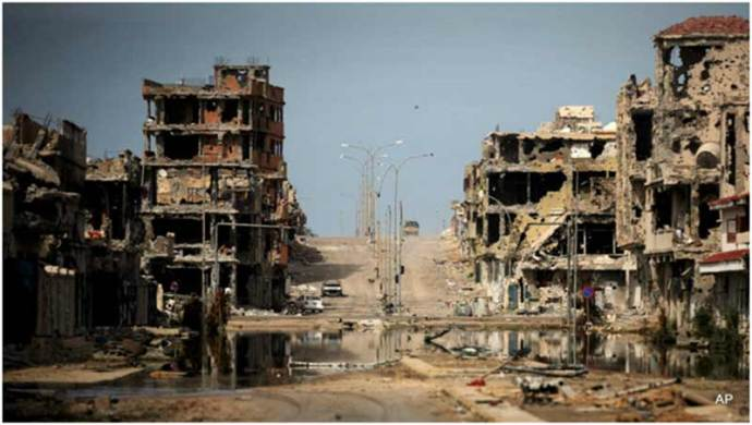 October 2011: A ravaged Sirte is evidence of the ferocity of the heroic battle staged by loyalist forces againstthe invaders.