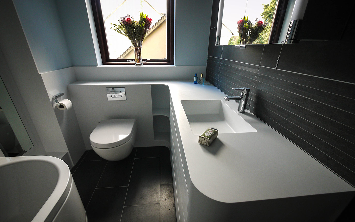 Corian Bathrooms  Specialist Corian Fabricator  Counter