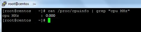 Linux cpuinfo 0.000 MHz