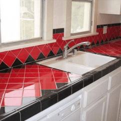 Tile For Kitchen Countertops New Sink Installation Cost Installed Plus Pros And Cons Of Tops The Biggest Problem With Is You Also Have To Clean Grout Which Can Take A Lot Time Or Extra Money In Long Run People Probably Got