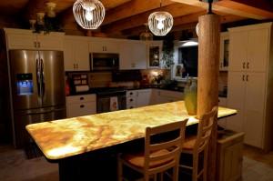 Lumisheet backlit countertop