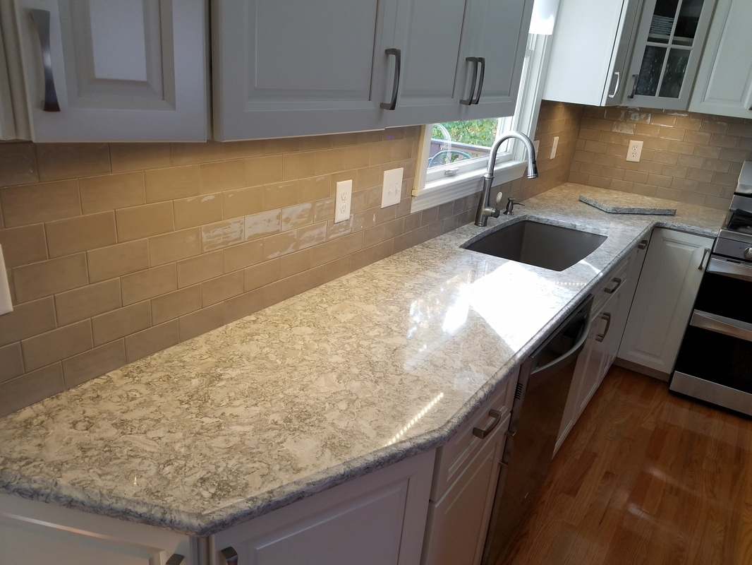 kitchen island countertops modern pendant lighting berwyn cambria - by superior- granite, marble ...