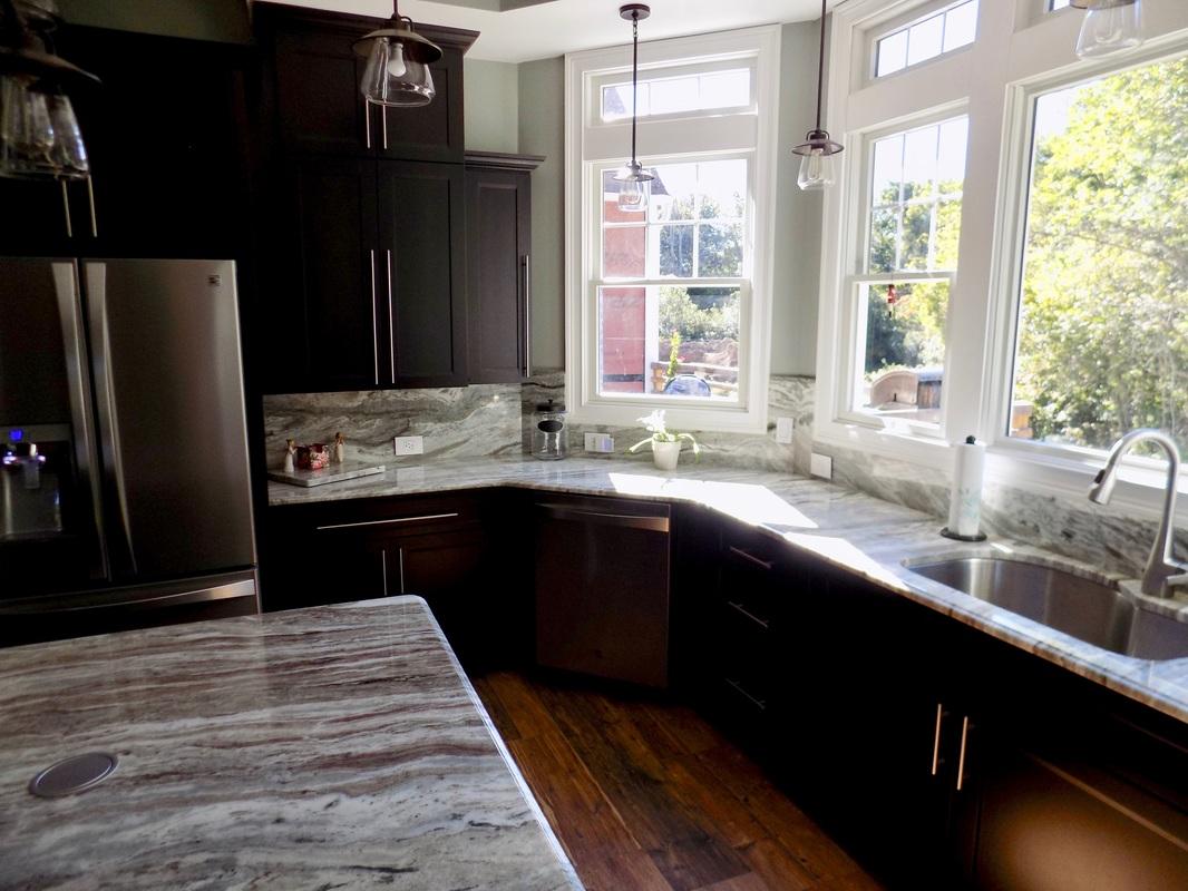 kitchen granite countertops nook lighting ocean beige - by superior- ...