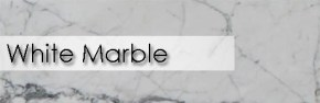 White marble selection of countertops and slabs