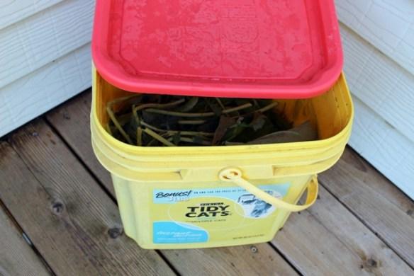 recycling a cat litter bucket
