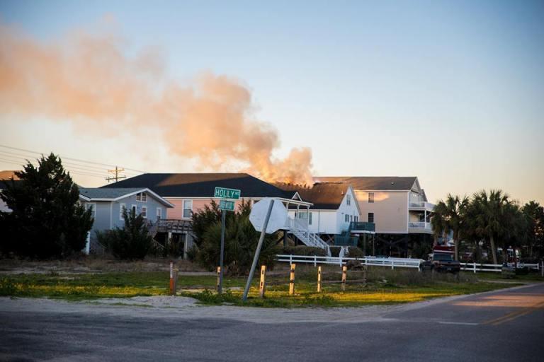 Accidental Fire Damages Garden City Beach House