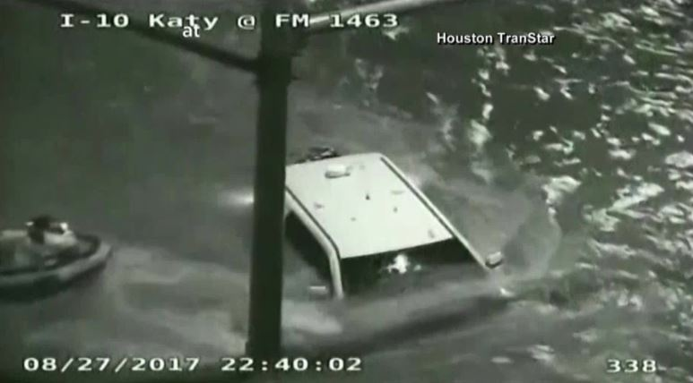 Traffic cameras capture dramatic water rescue in Houston