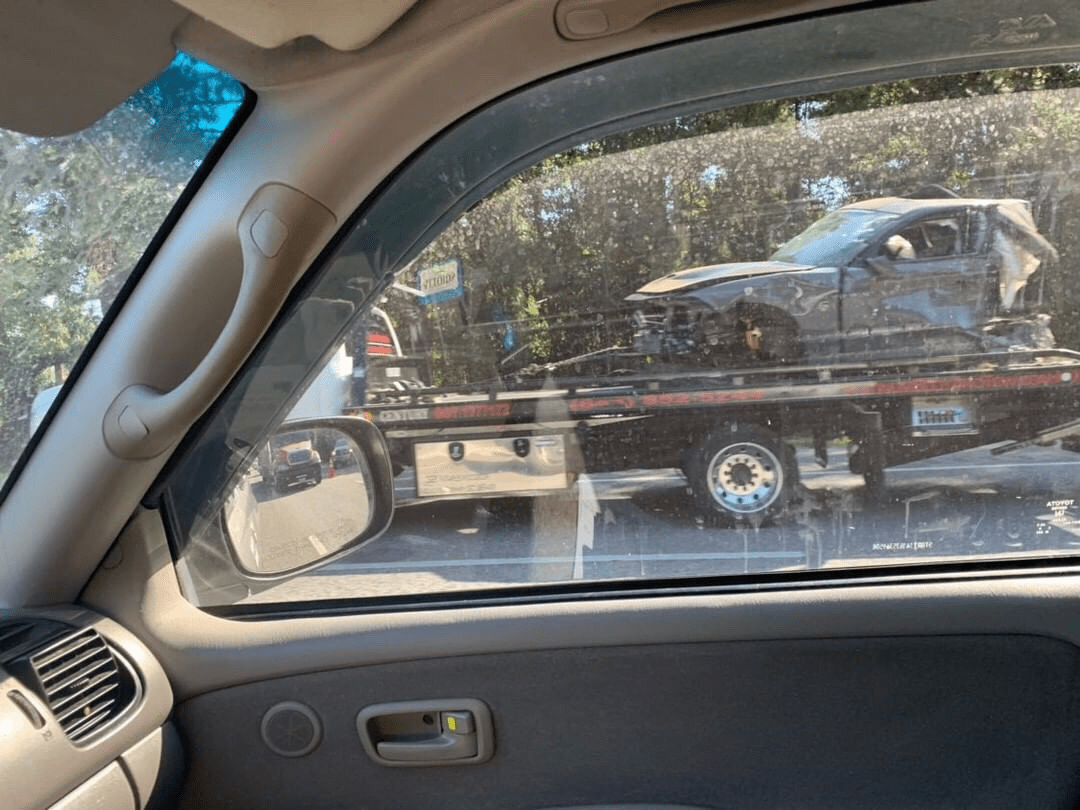 Vehicle being towed following fatal crash