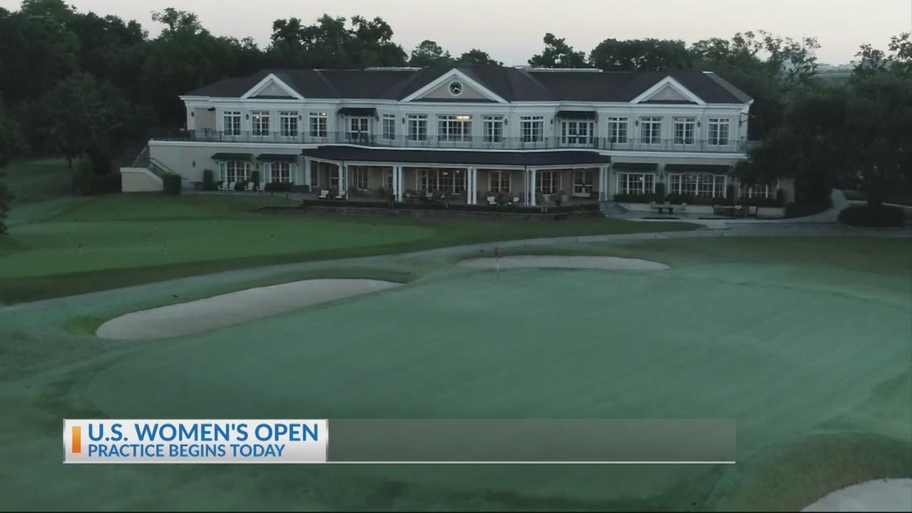 Practice for the U.S. Women's Open begins today