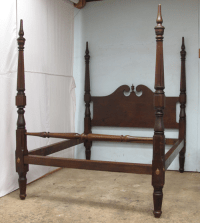 Antique Reeded Four Poster Bed