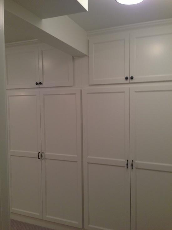 cherry cabinets kitchen items basement storage custom - country