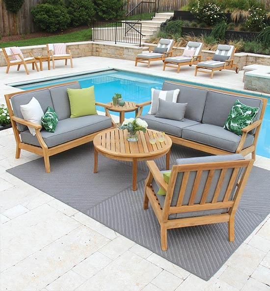 teak outdoor lounge furniture