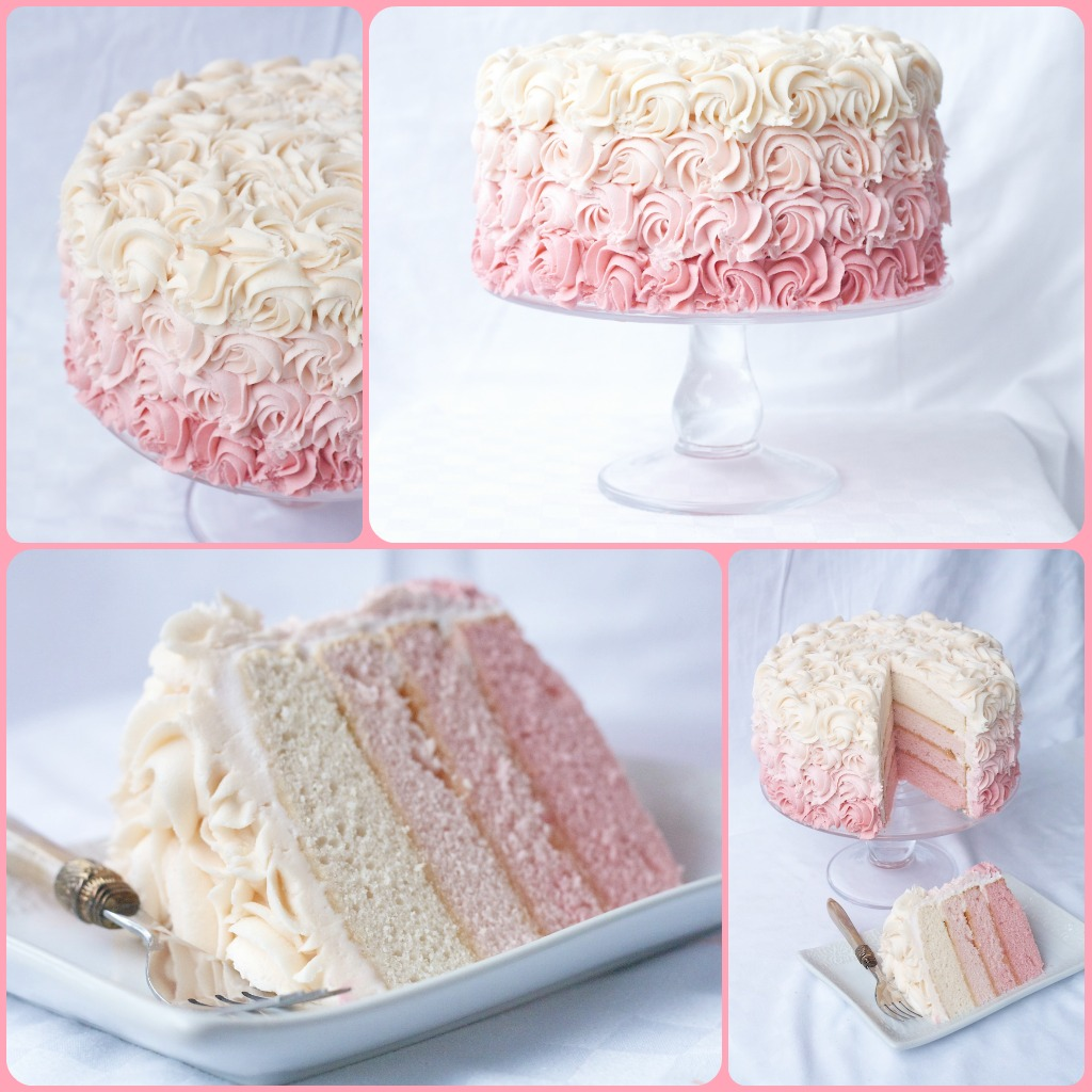 A Bouquet Of Roses How To Make A Rose Ombre Cake Country Cleaver
