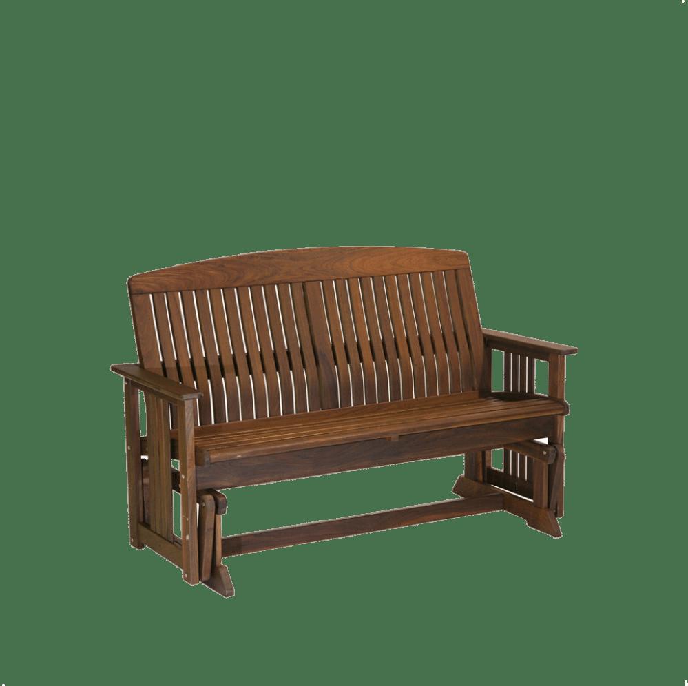ipe wood outdoor glider bench