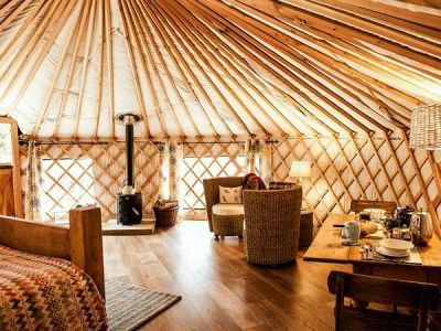 Yurt Holidays  Luxury Camping in Yurts and Tipis