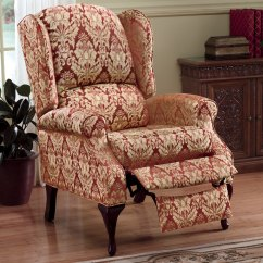 Country Style Wingback Chairs Occasional Living Room Microfiber Recliner Door