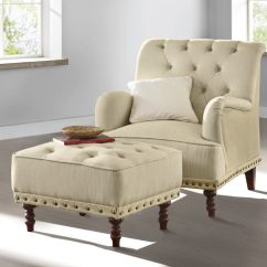 Tufted Chair And Ottoman Cheap Side Chairs Accent Nailhead Country Door