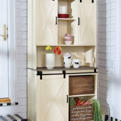Kitchen Buffet Led Light Storage Furniture Dining Room Hutch Country Door Barn And