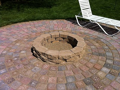 how to build a patio and fire pit with