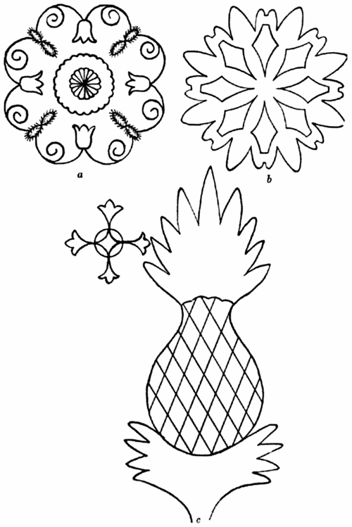 Pineapple Quilting Pattern Larger Image