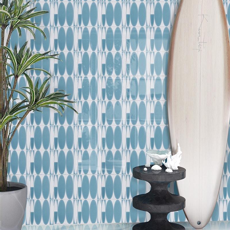 gidget boards glossy surfs up ceramic tiles 6x6