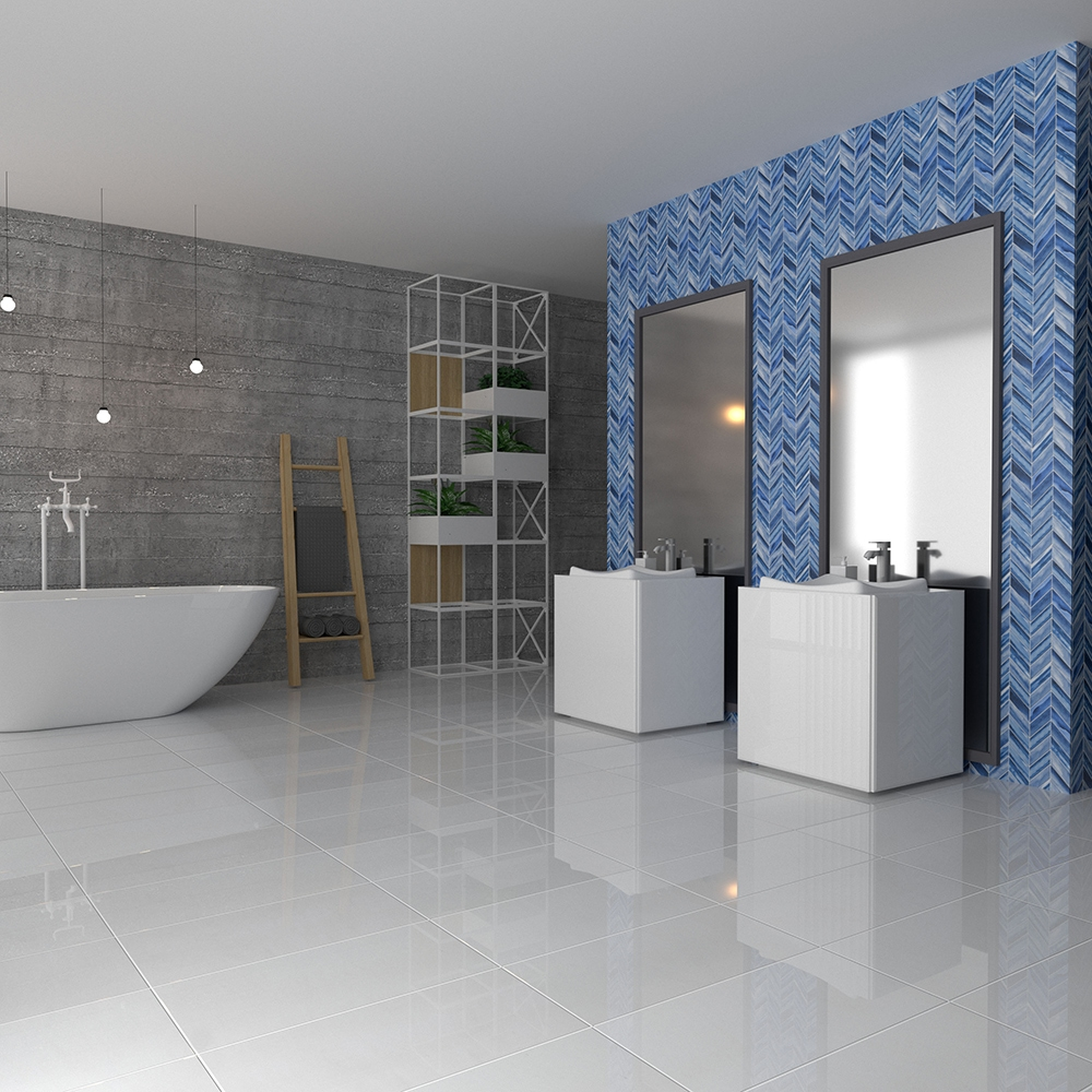mist matte chevron ceramic tiles 2x6
