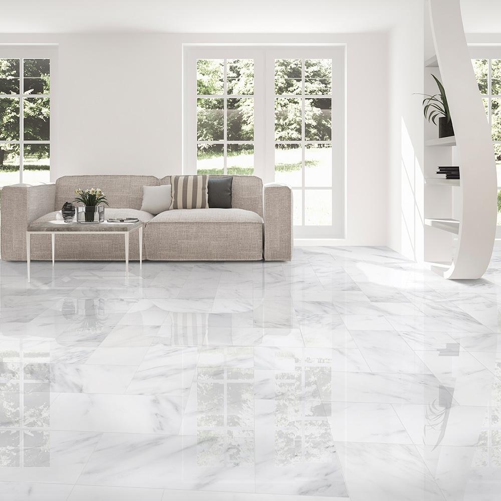 calacatta bella polished marble tiles 12x12