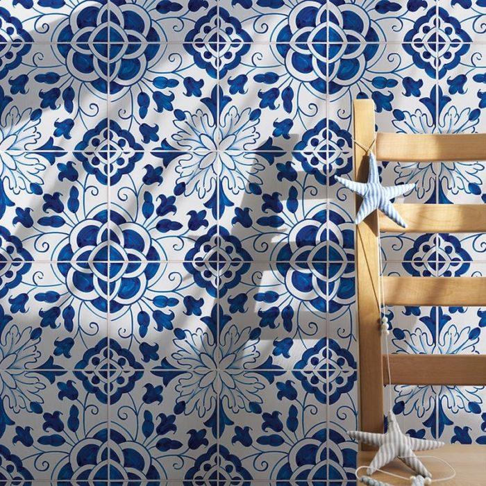 pompano beach blue tile acksplash