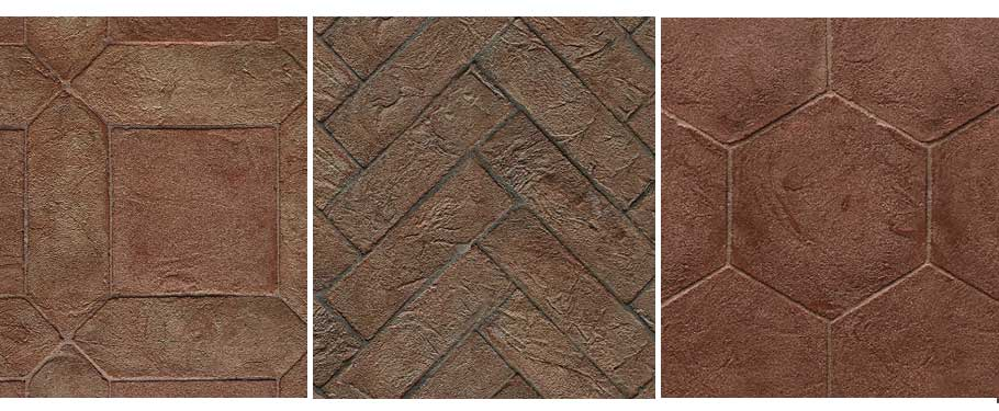 outdoor design with terracotta tile