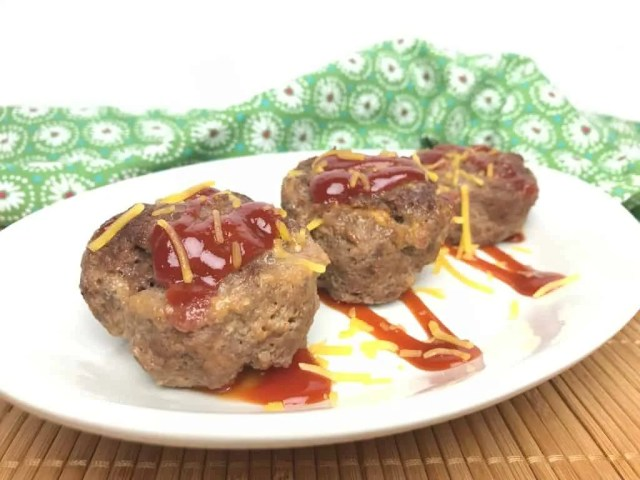 BBQ Cheesy Meatloaf Muffins (THM-S, Low Carb)