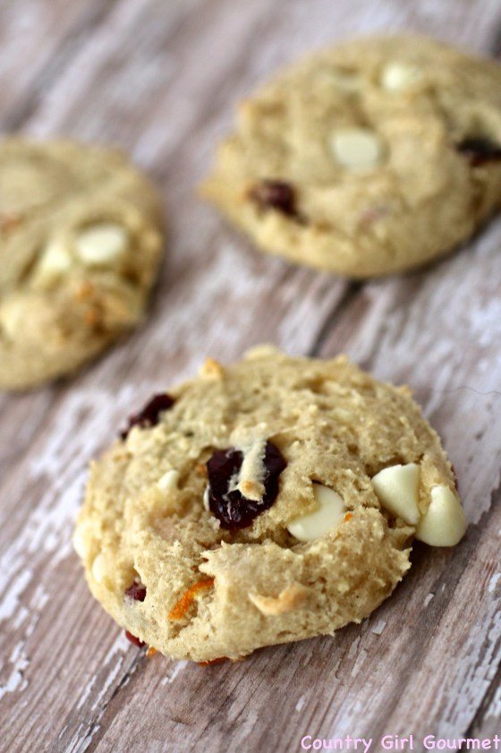 Cranberry Orange Chip Cookies | Country Girl Gourmet