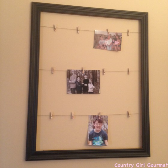 DIY Collage Picture Frame |Country Girl Gourmet