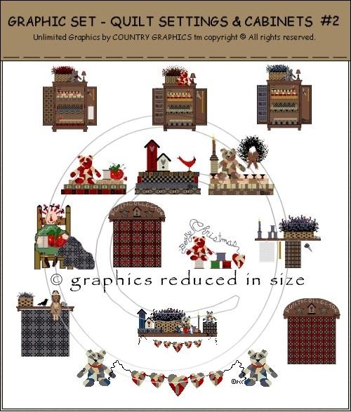 country primitive quilt clip art