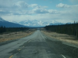 Driving to Kluane Lake