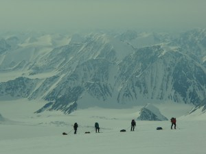 The guided group approaching King Col