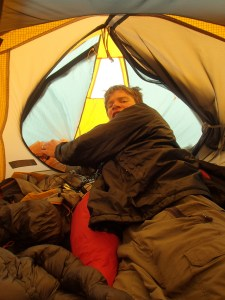 Still in the tent