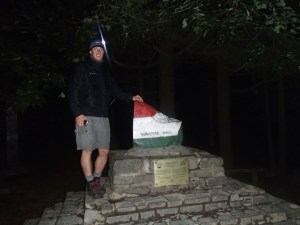 Matthew on the summit at midnight