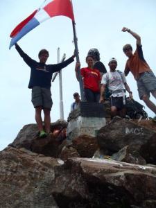 The team on the summit