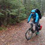 Biking into the Pemi Wilderness