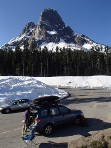 Liberty Bell Mountain from our car camping site