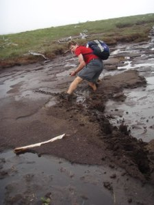 Deep muddy stretch along the lake shore.
