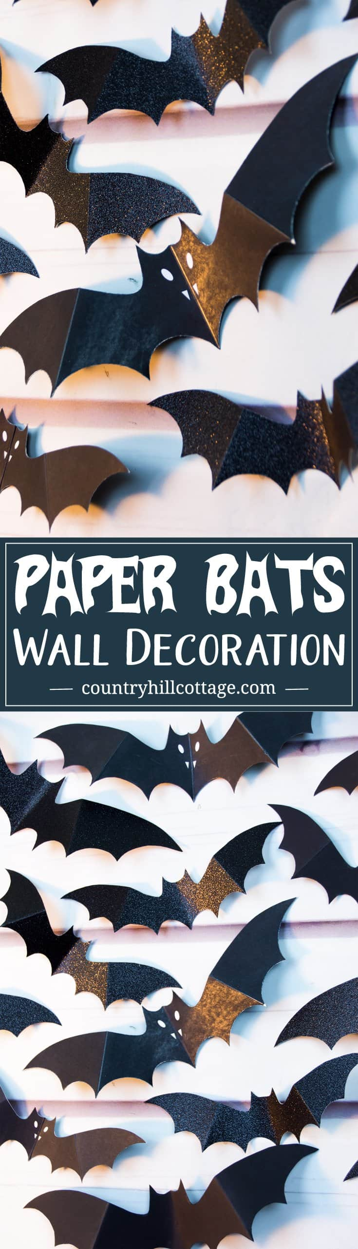 Swarm Of Paper Bats Diy Halloween Wall Decoration. Visit Our Blog To  Download A Free