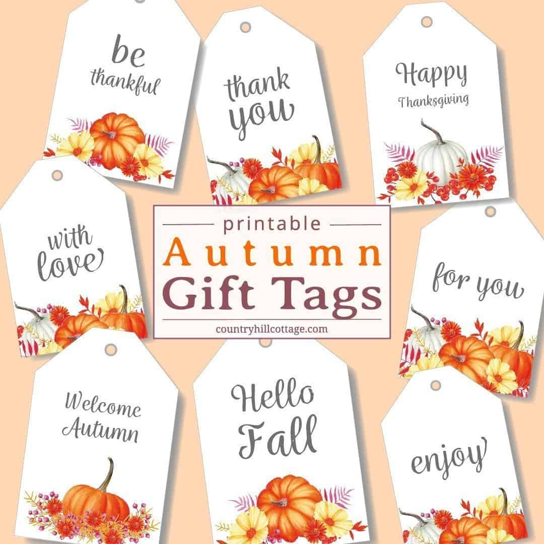printable fall gift tags