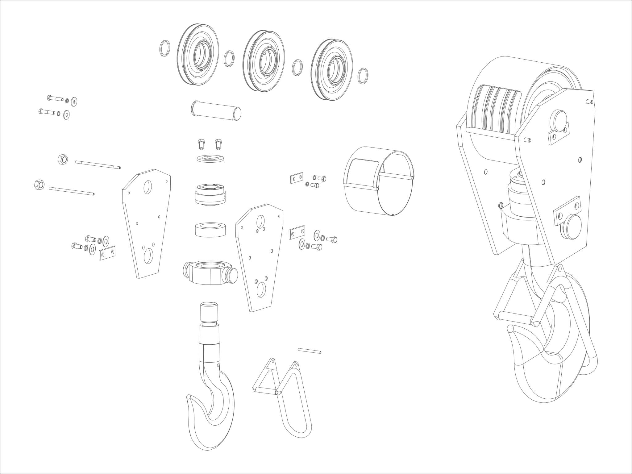 Sketch Of A Pulley System