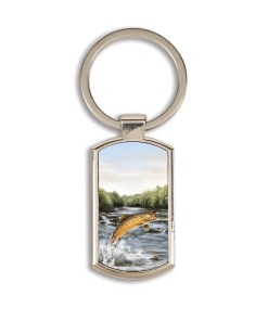 Highland Collection - Lozenge Keyring (Brown Trout)