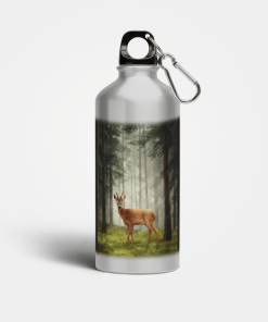 Country Images Aluminium Reusable Water Bottle Metal Highland Collection Roebuck Roe Buck Deer Gifts Gift