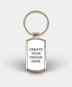Country Images Custom Customised Customise Personalise Personalised Lozenge Metal Keyring Create Your Own Blank Gift Gifts