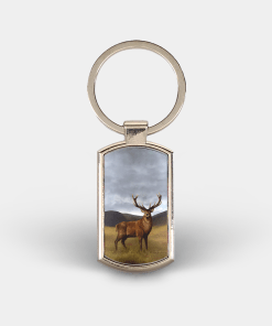 Country Images Custom Customised Customise Personalise Personalised Lozenge Metal Keyring Highland Collection Stag Deer Gift Gifts