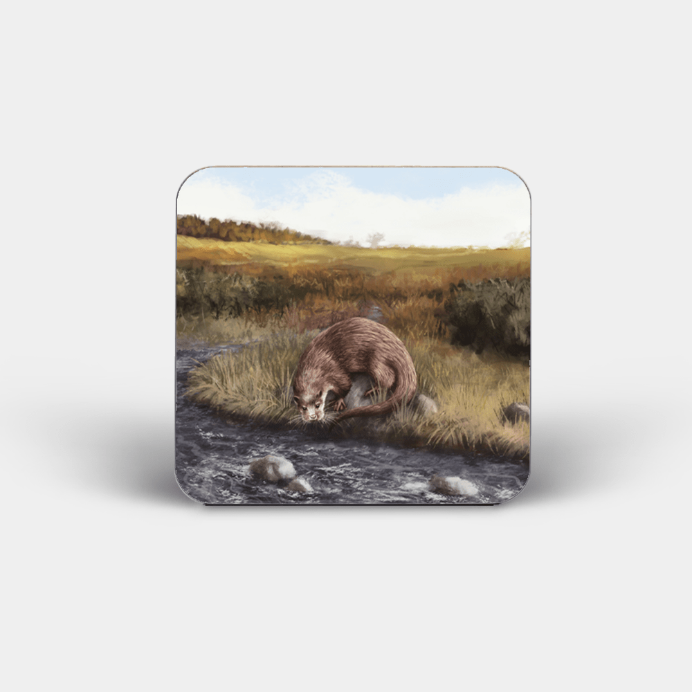 Country Images Personalised Custom Board Coaster Coasters Scotland Highland Collection Otter Otters png