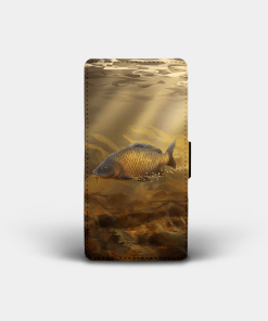 Country Images Personalised Custom Customised Flip Phone Cover Case Scotland Scottish Highlands Common Carp Fishing Gift Gifts Angling